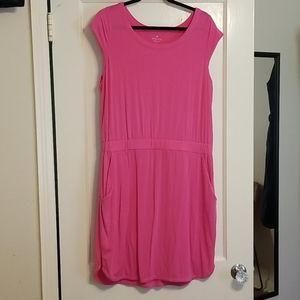 Athleta Pink Redondo Dress w/Pockets Large L